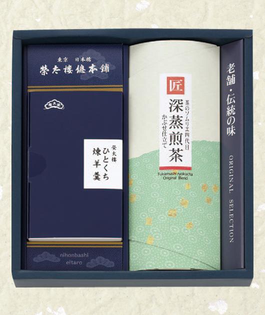 榮太樓の羊羹・煎茶