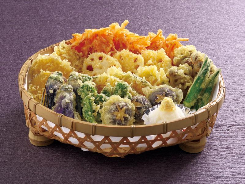 野菜の天ぷら3人盛り